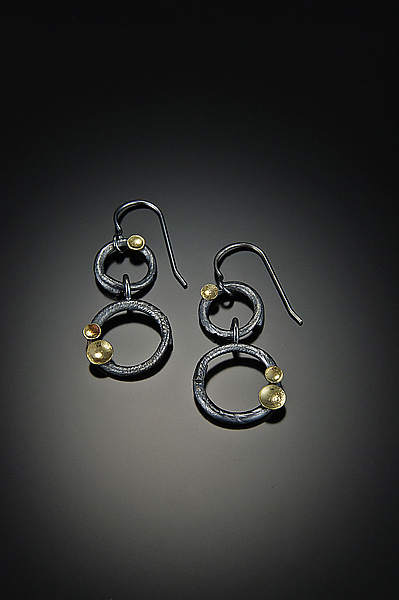 Anelli Earrings - Gold & Silver Earrings - by Davide Bigazzi