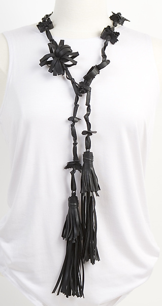 Genevieve Tassel Necklace/Belt - Rubber Necklace - by Kathleen Nowak Tucci
