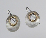 Gold & Silver Earrings by Connie Ulrich