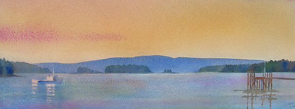 100 Views of Isle Au Haut No.4 (study) - Watercolor Painting - by Suzanne Siegel