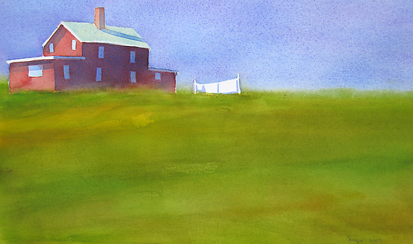 Almost Summer III - Watercolor Painting - by Suzanne Siegel