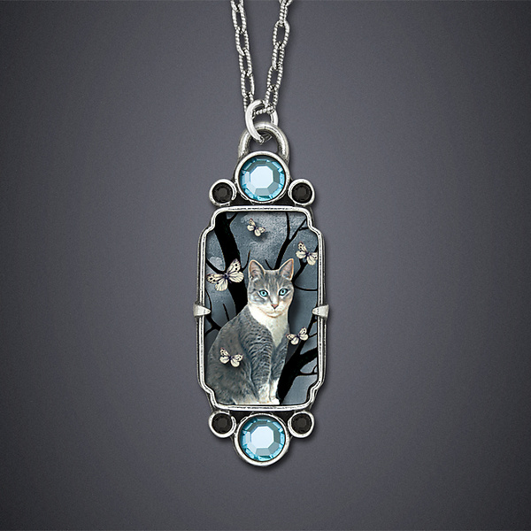 Neko Necklace - Silver Necklace - by Dawn Estrin