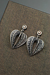 Silver & Stone Earrings by Sooyoung Kim