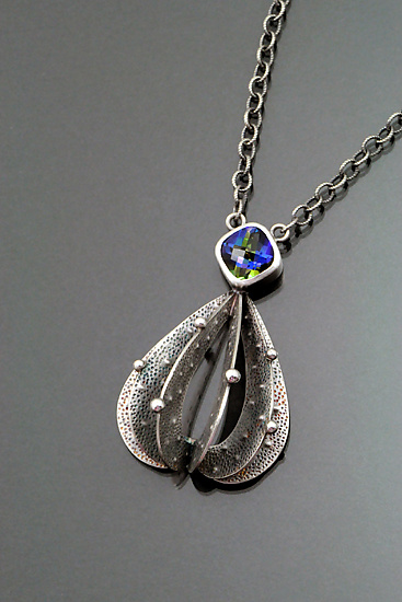 Substerile Necklace - Silver & Stone Necklace - by Sooyoung Kim