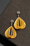 Gold & Silver Earrings by Sooyoung Kim