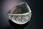 Gold, Silver, & Stone Ring by Ashley Vick