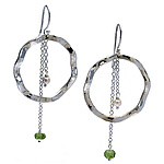 Silver & Stone Earrings by Kathleen Lynagh