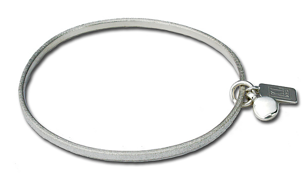Polished Mini Circle Charm - Silver Bracelet - by Kathleen Lynagh