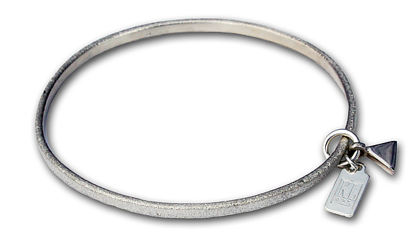 Polished Mini Triangle Charm - Silver Bracelet - by Kathleen Lynagh