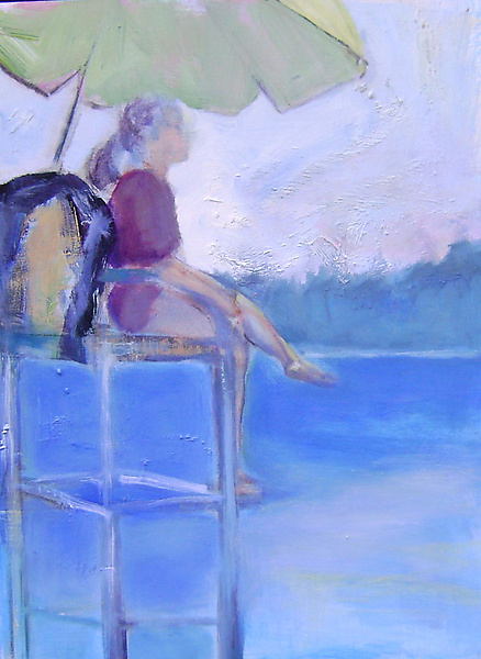 Lifeguard - Oil Painting - by Suzanne DeCuir