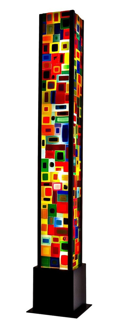 Carnival Floor Lamp - Art Glass Floor Lamp - by Helen Rudy