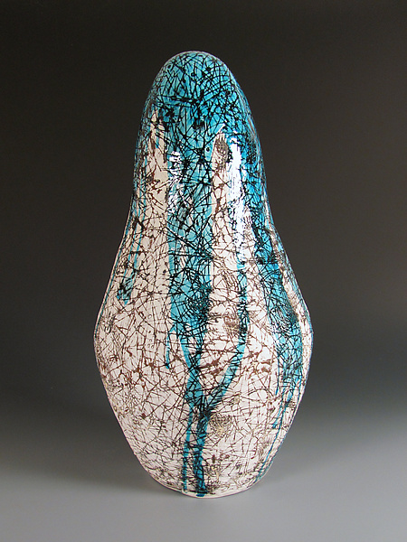 Gourd Series - Waterfall - Ceramic Sculpture - by Lin Xu