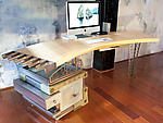 Metal & Wood Desk by David Sleightholm