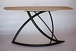 Wood Console Table by Dean Pulver