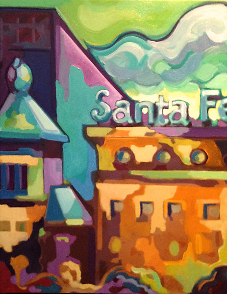 Santa Fe - Oil Painting - by Jason Watts