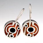 Silver & Copper Earrings by Victoria Varga