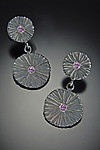 Silver & Stone Earrings by Dahlia Kanner