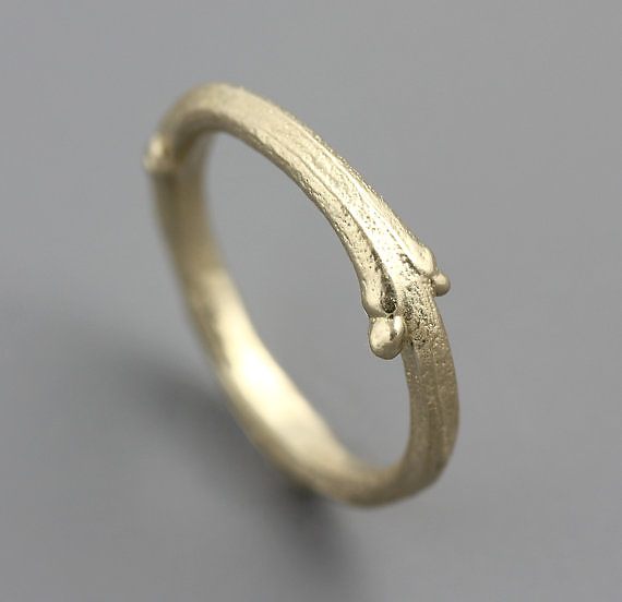 Gold Lilac Twig Ring - Gold Ring - by Sarah Hood