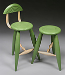 Wood Stool by David Scott
