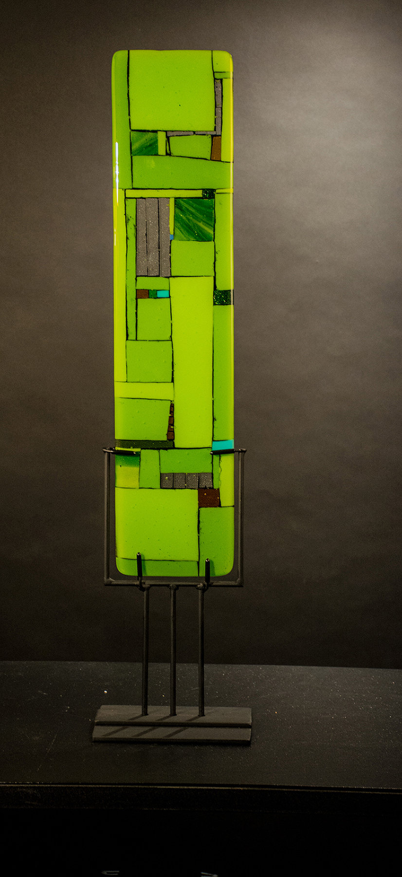 Windows Green - Art Glass Sculpture - by Meg Branzetti and Vicky Kokolski