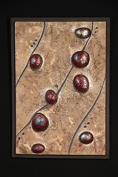 Streambed 2 - Ceramic Wall Art - by Leslie Green