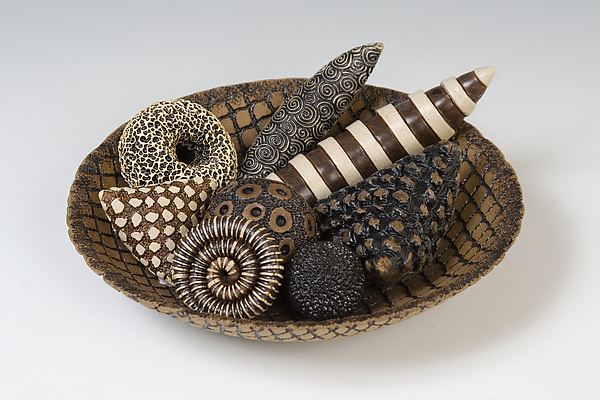 Bowl and Rattles - Ceramic Sculpture - by Kelly Jean Ohl