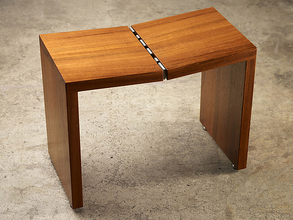 Teak Stool - Wood Stool - by Laura Rittenhouse