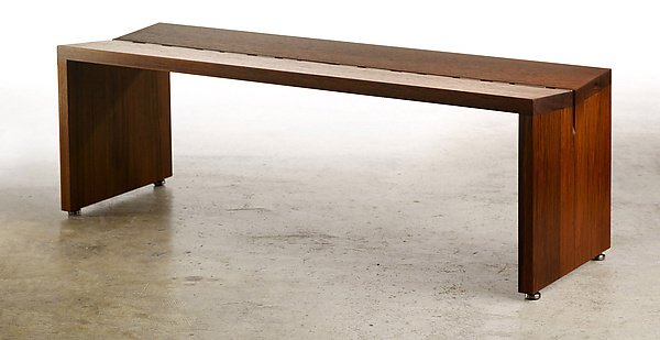 Teak Bench - Wood Bench - by Laura Rittenhouse