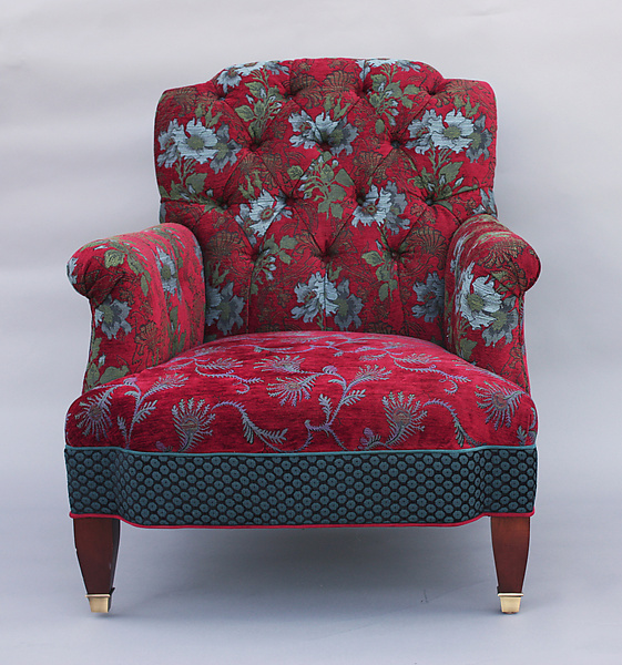 Chelsea Chair in Red Wine - Upholstered Chair - by Mary Lynn O'Shea