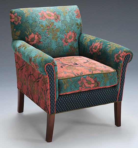 Salon Chair in Zinnea - Upholstered Chair - by Mary Lynn O'Shea