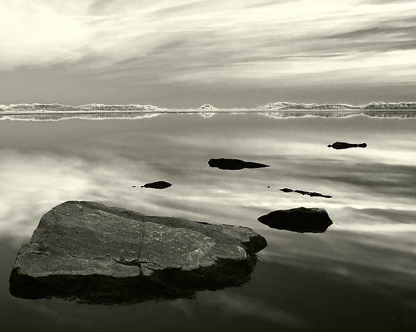 Six Stones - Black & White Photograph - by Geoffrey Agrons