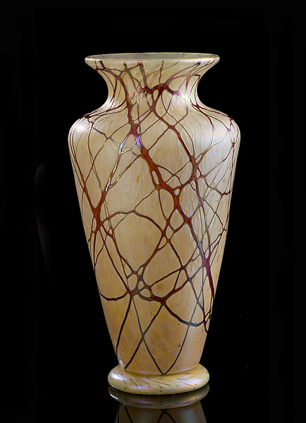 Champagne and Lace Vase - Art Glass Vase - by Bryce Dimitruk