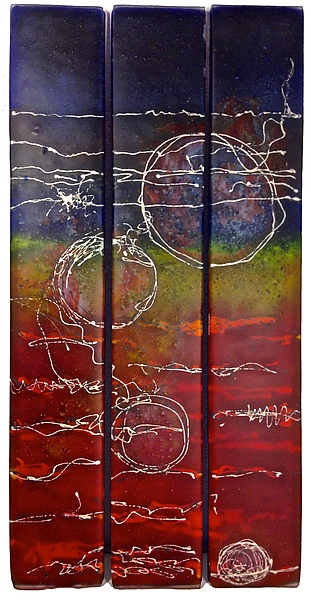 Brave - Art Glass Wall Art - by Carol Carson