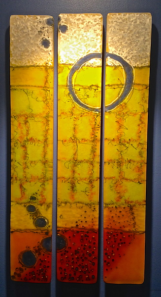 In the Light of Hope - Art Glass Wall Art - by Carol Carson