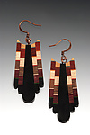 Wood Earrings by Martha Collins