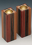 Wood Candleholders by Martha Collins