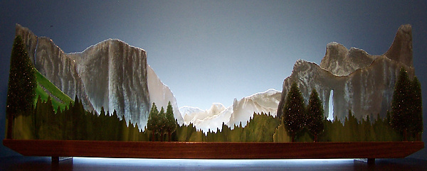 Yosemite - Art Glass Sculpture - by Bernie Huebner and Lucie Boucher