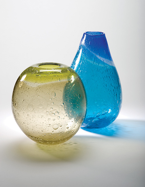 Ombre Primavera vase - Art Glass Vase - by Tracy Glover