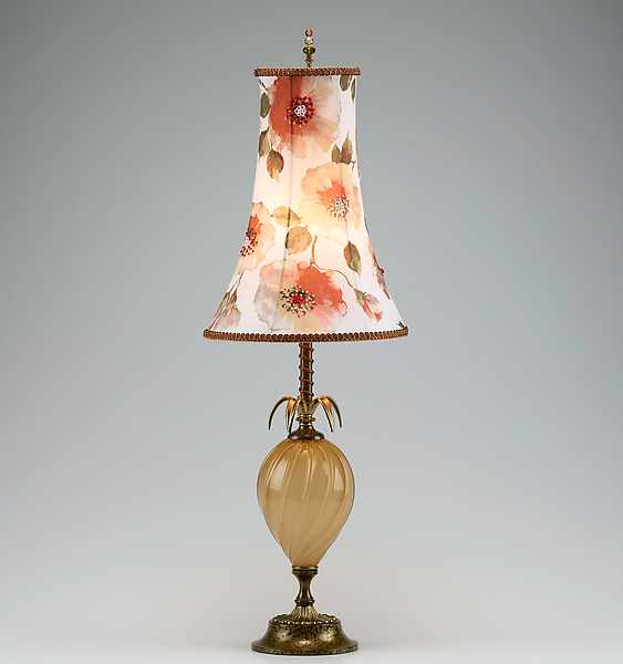 Georgia - Mixed-Media Table Lamp - by Caryn Kinzig and Susan Kinzig
