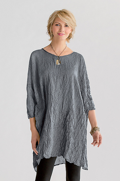 Crushed Silk Tunic - Silk Top - by Carol Lee Shanks