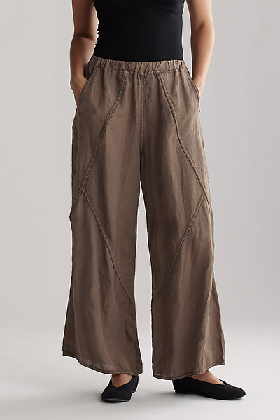 A-Line Diagonal Linen Pant - Linen Pant - by Cynthia Ashby