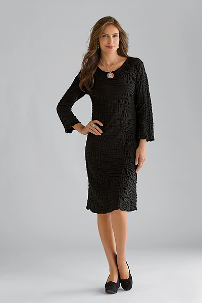 Fiore Fall Dress - Knit Dress - by Carol Turner