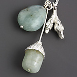 Silver & Stone Necklace by Sarah Hood