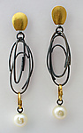 Gold, Silver, & Pearl Earrings by Sydney Lynch