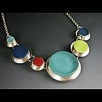 Art Glass Necklace by Amy Faust