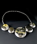 Silver & Ceramic Necklace by Amy Faust