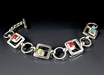Art Glass Bracelet by Amy Faust