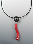 ilver, Wood & Polymer Necklace by Suzanne Linquist