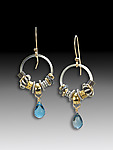 Gold, Silver & Stone Earrings by Suzanne Q Evon