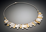 Gold, Silver, & Stone Necklace by Suzanne Q Evon